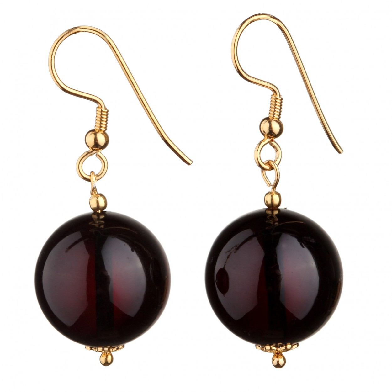 Cherry Balls Amber Earrings