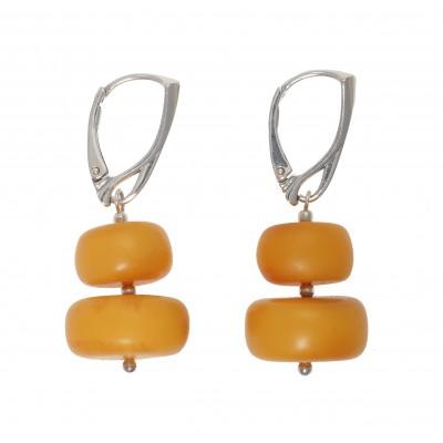 Yellow Cleopatra Amber Earrings