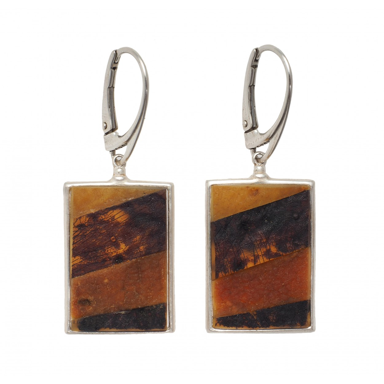 Frame Amber Earrings