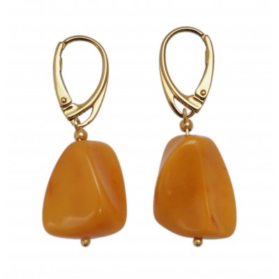 Amber Earrings Yellow Bell