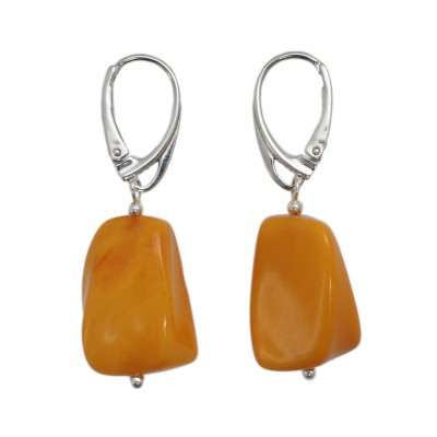 Tiny Bell Amber Earrings