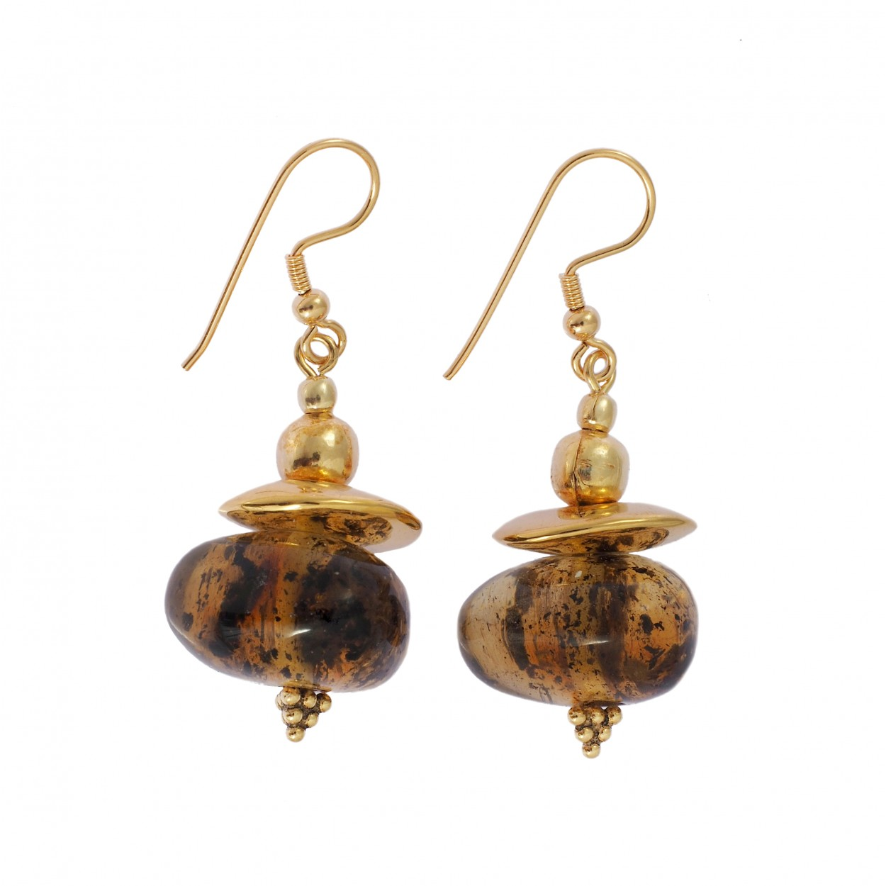 Frozen Dots Amber Earrings