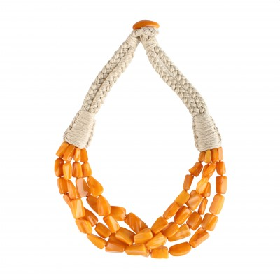 Biscuits String Amber Necklace