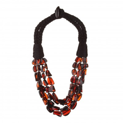 Amber Necklace Cherry Stones
