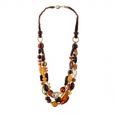 Coloured Rain Amber Necklace