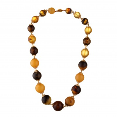 Antique Balls Amber Necklace
