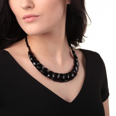 Amber Necklace Diamond Cut