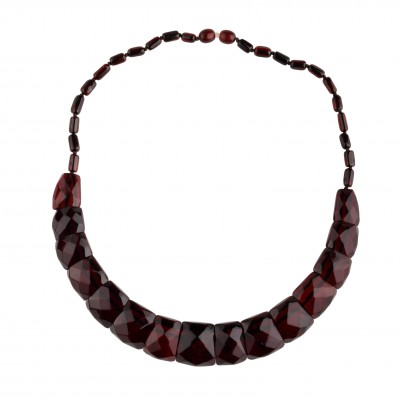 Diamond Cut Amber Necklace