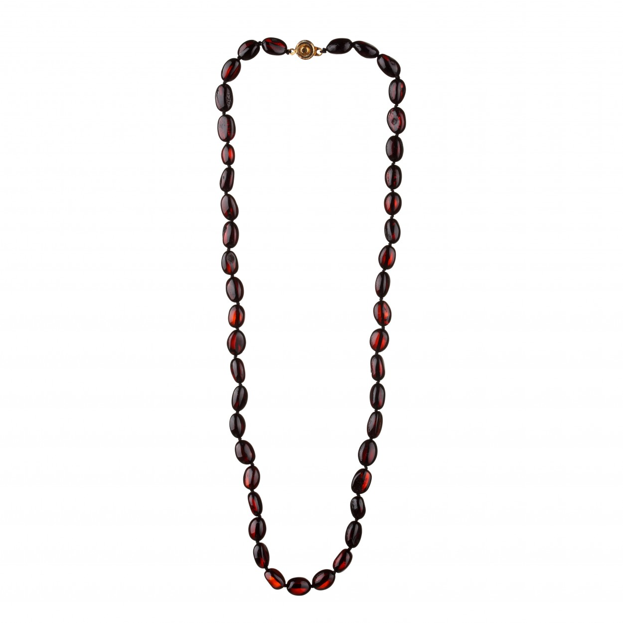 Cherry Beans Amber Necklace