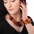 Flintstone Amber Necklace