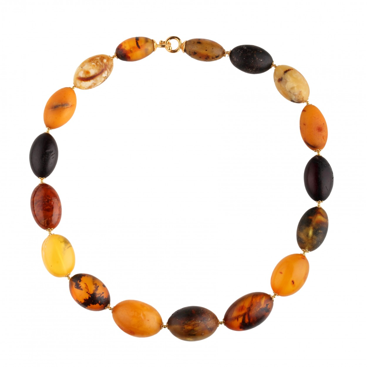 Antique Olives Amber Necklace