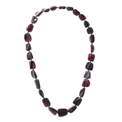 Burgundy Wine Amber Necklace