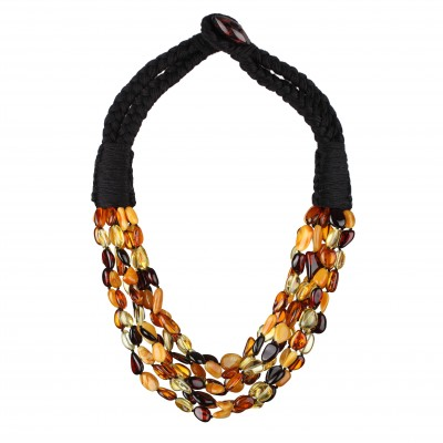 Dancing Beans  Amber Necklace