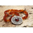 Medallion Amber Necklace