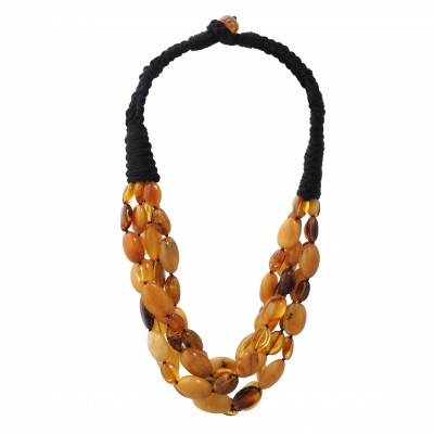 Autumn Beans Amber Necklace