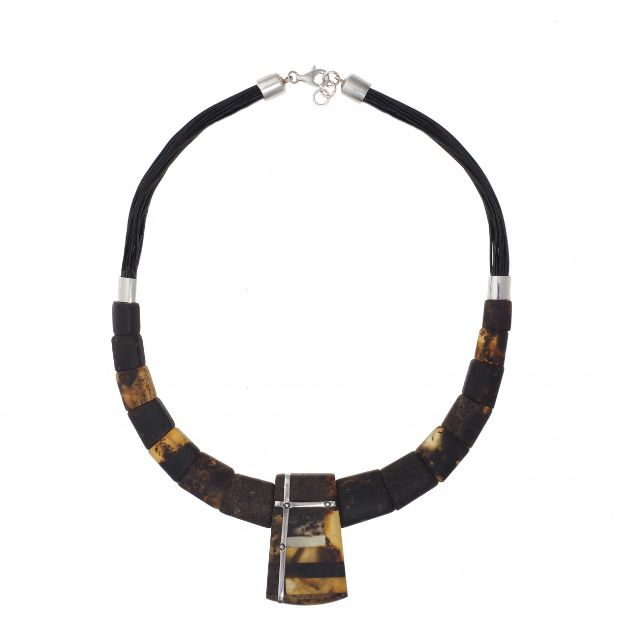 Queen of Spades Amber Necklace