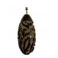 Goddess Teardrop Amber Pendant