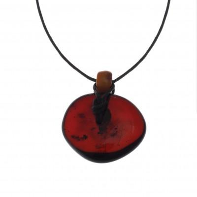 Cherry Donut Amber Pendant