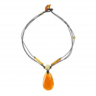 Yellow Play Amber Necklace