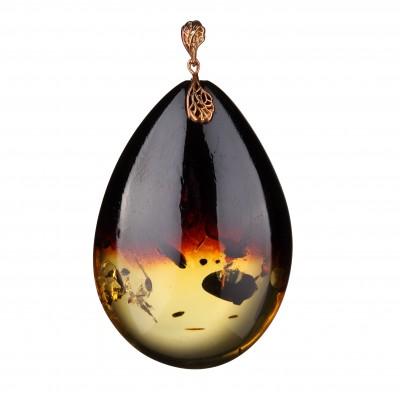 Infinity Amber Pendant