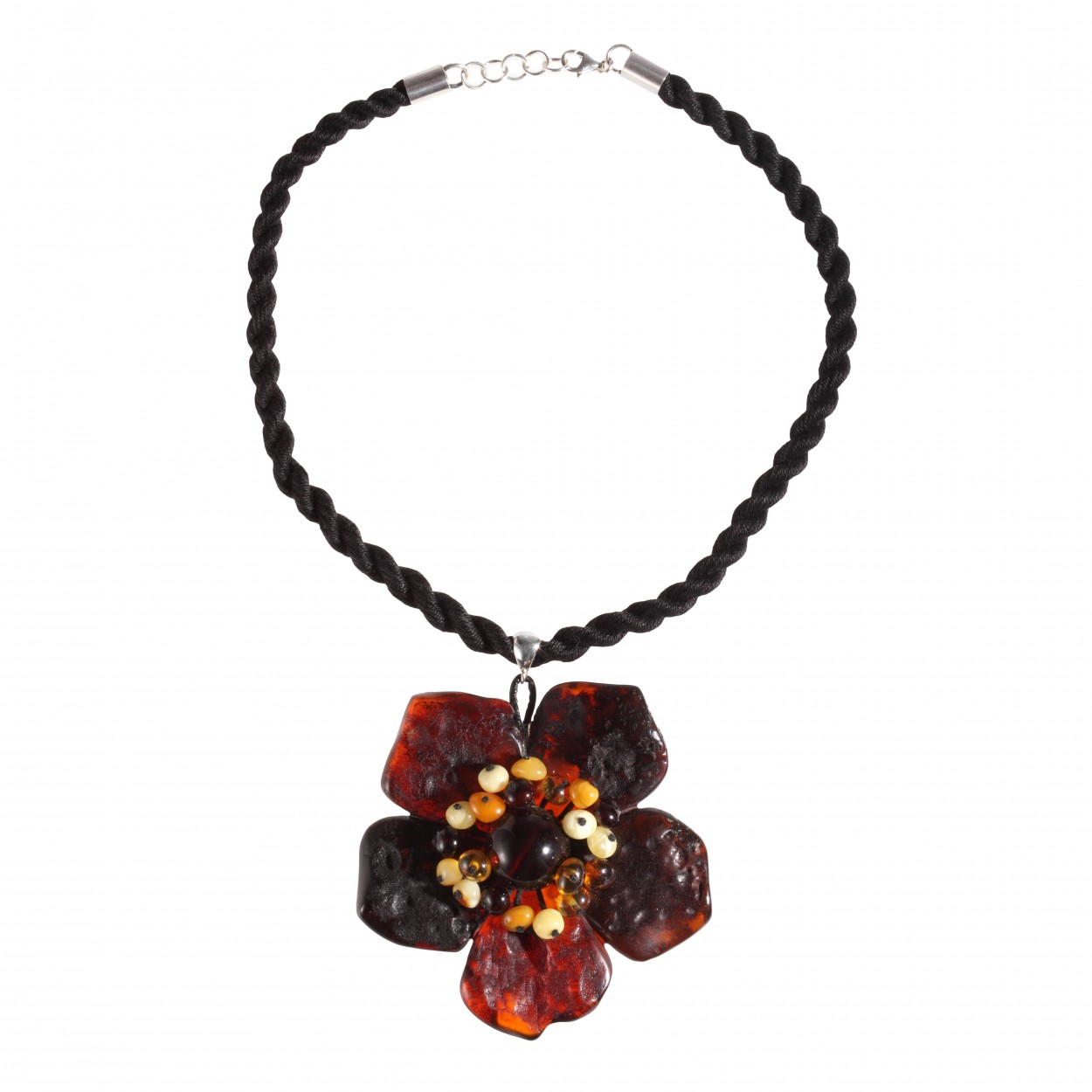 Night Flower Amber Pendant