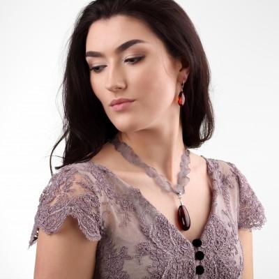 Amber Earrings Lakshmi