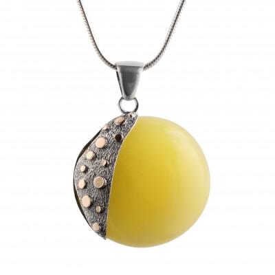 Pendulum Disc Amber Pendant