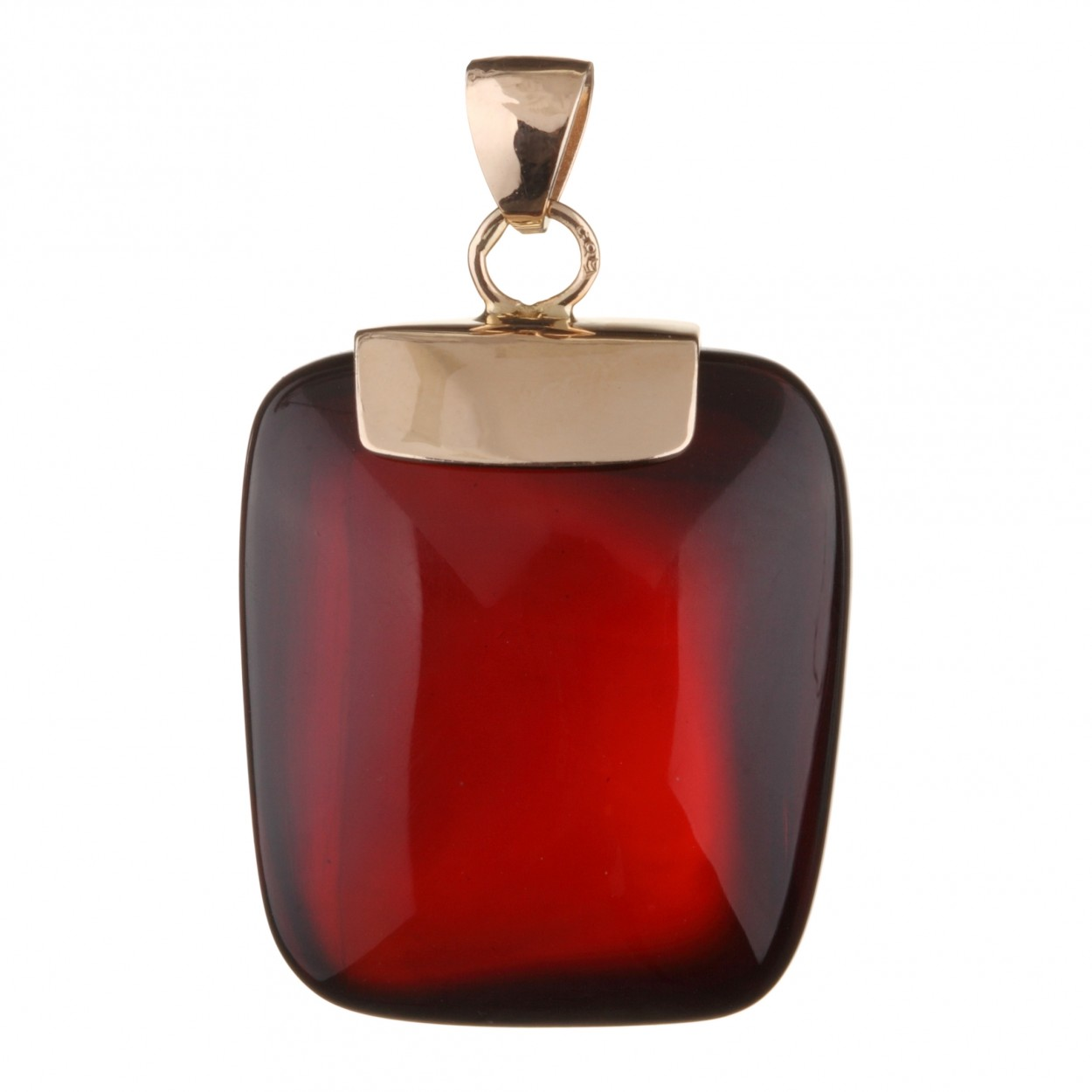 Luxurious Rectangle Amber Pendant