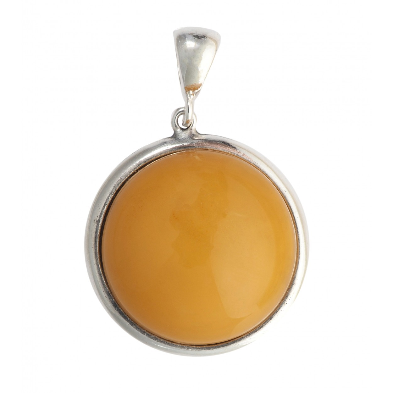 Antique Coin Amber Pendant