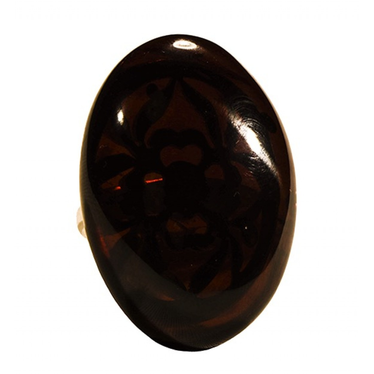 Cherry Oval Amber Ring