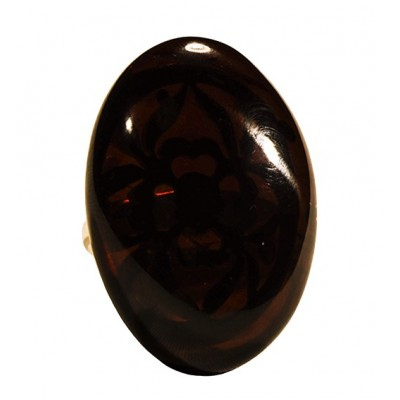 Amber Ring Cherry Oval