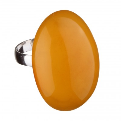Sunny Almond Amber Ring