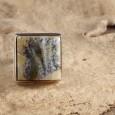 Blue Dalmantine Amber Ring