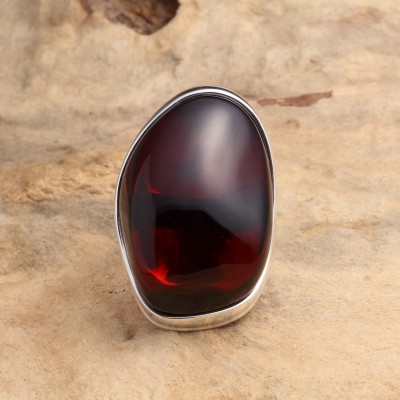 Amber Ring Deep Cherry