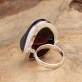 Deep Cherry Amber Ring