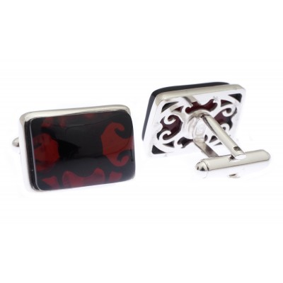 Businessman Amber Cufflinks