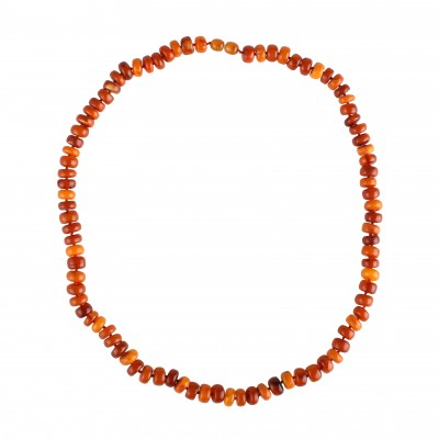 Orange Play Amber Necklace