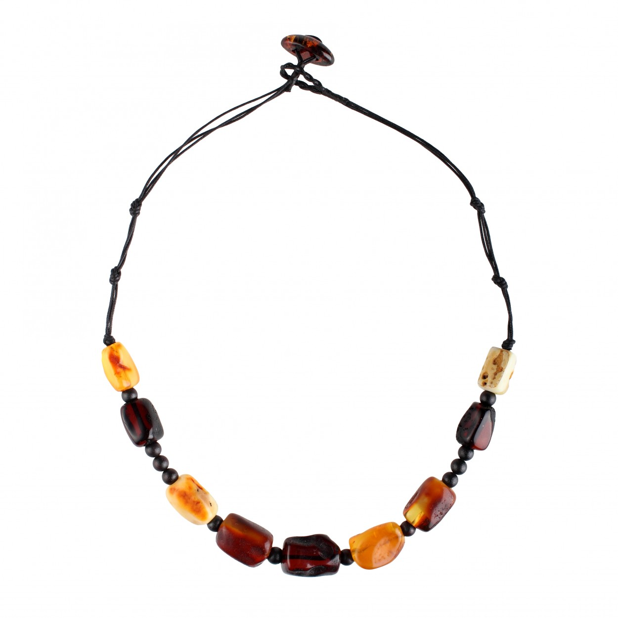 Rustic Charm Amber Necklace