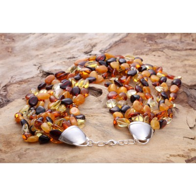 Shining Rain Amber Necklace