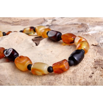 Rustic Beads Amber Necklace