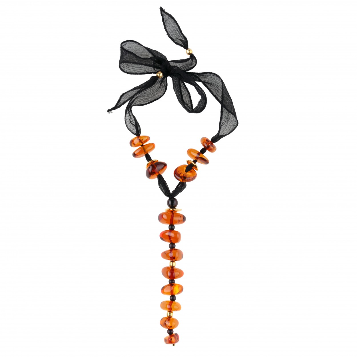 Transparent Bonbon Amber Necklace