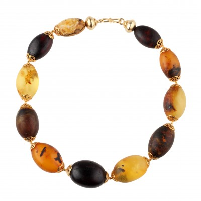 Antique Plums Amber Necklace