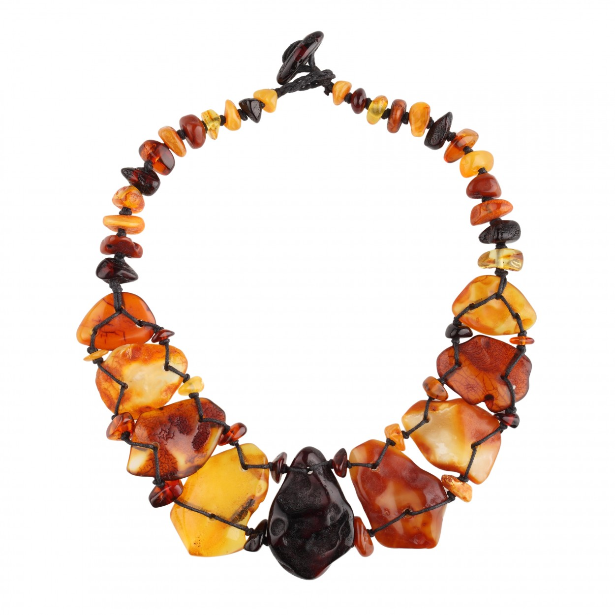 Flintstone Amber Necklace