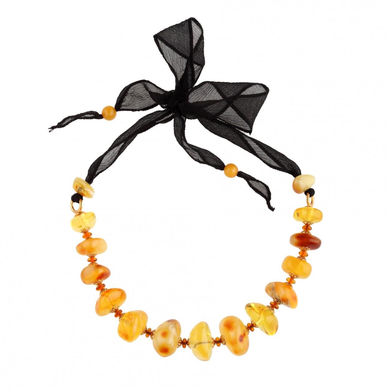 Bonbon on Silk Amber Necklace