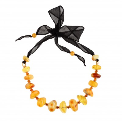 Bonbon on Silk Amber Necklace