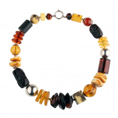 Amber Necklace Stone Age