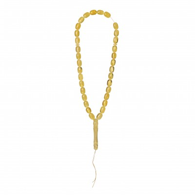 Amber Necklace Barrel Shape Amber Rosary