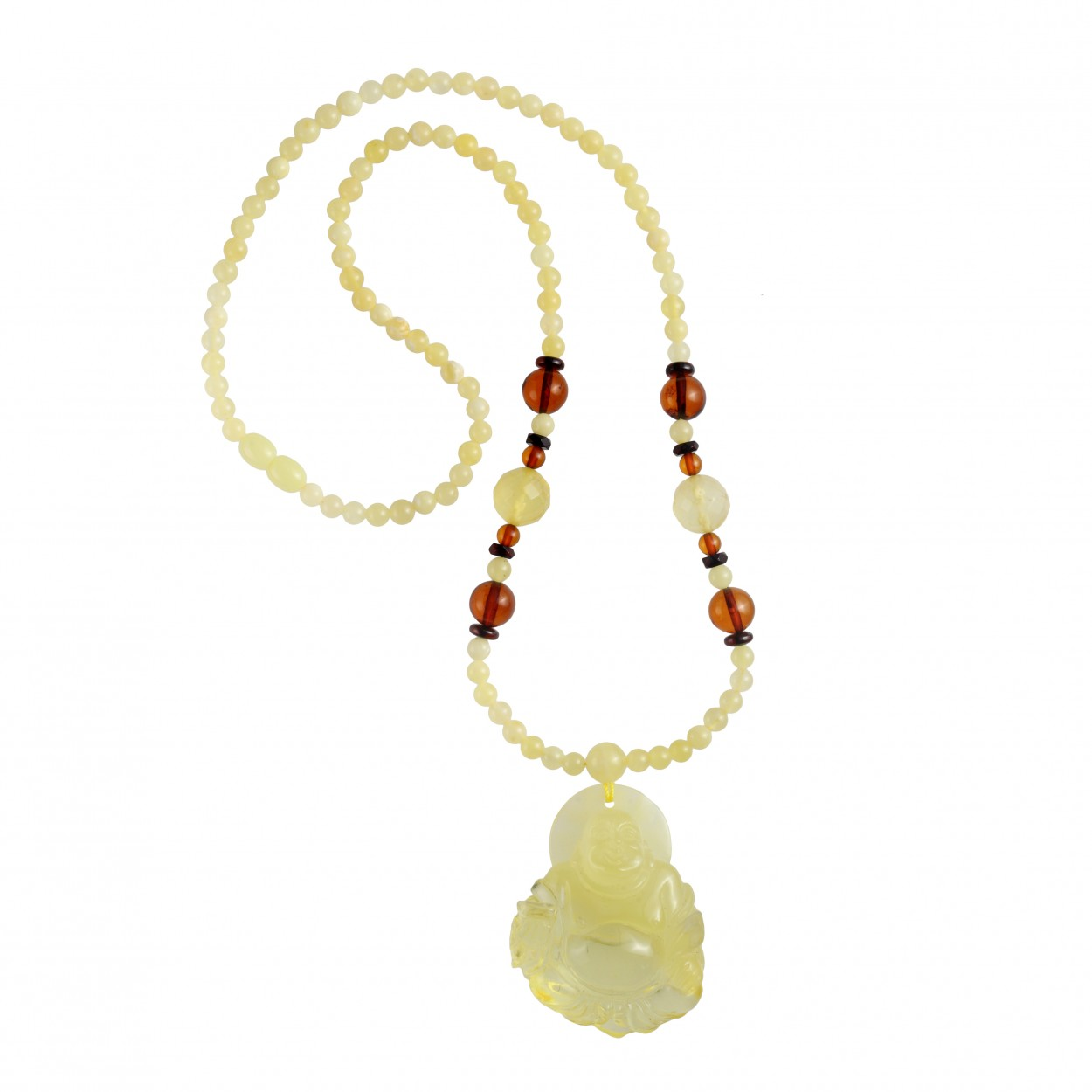 Amber Necklace Sunrising Buddha
