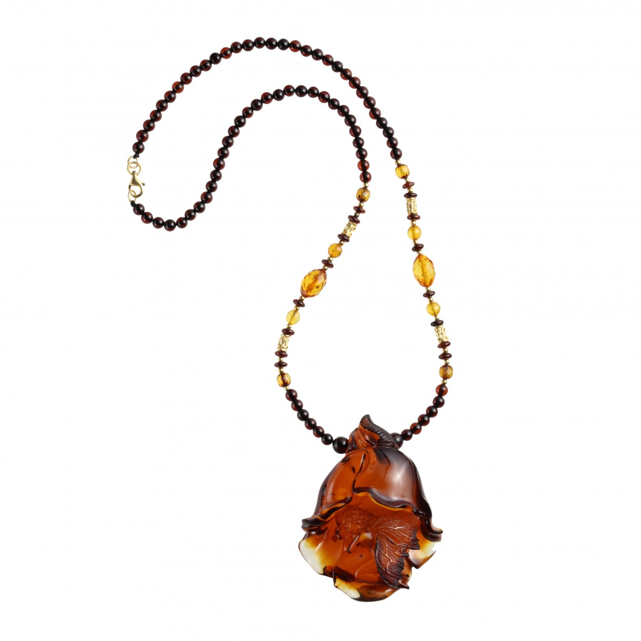 Amber Necklace Forest Angel